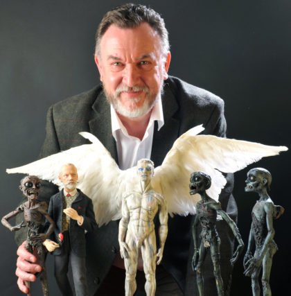 Barry Purves with puppets